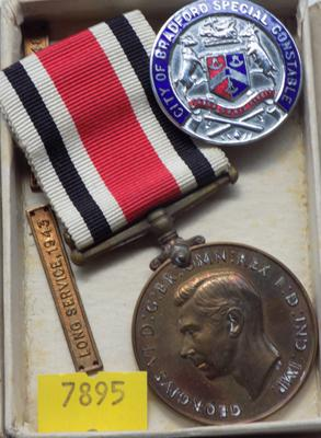 Long service medal and constable badge
