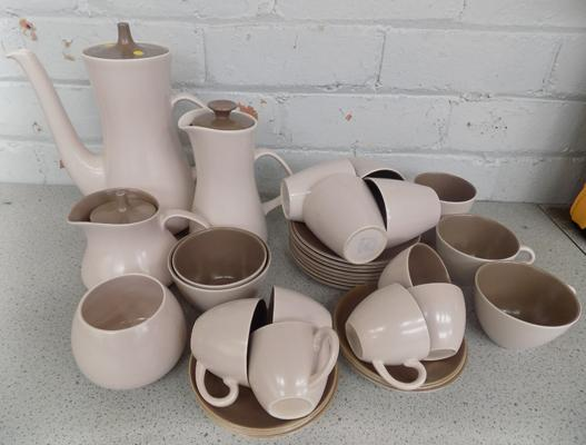 Pale pink Poole tea and coffee set - not complete - no damage found