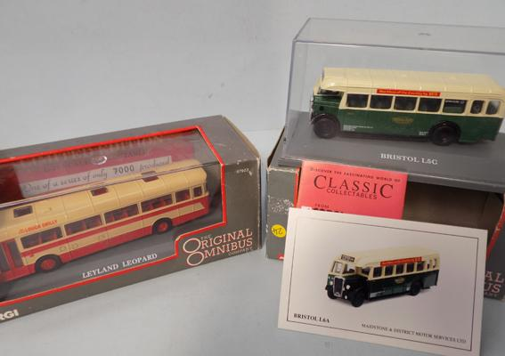 Two Corgi Omnibuses -  Maidstone & District + Leyland leopard, boxed