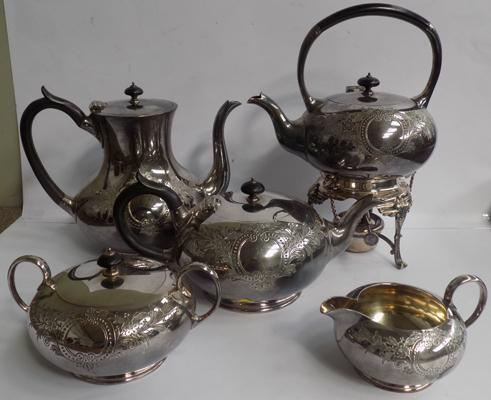 Silver plate tea & coffee set by James Dixon & Sons