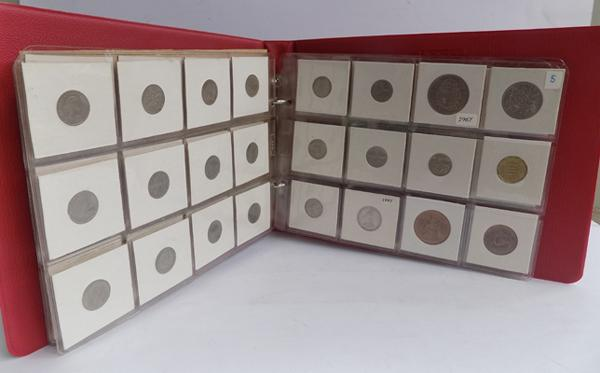 Vintage album of mixed coins & notes