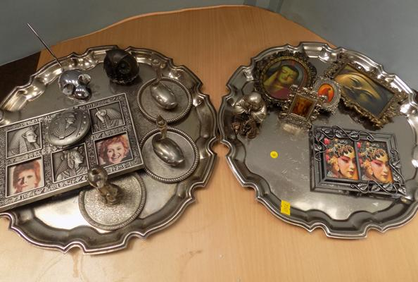 Selection of metalware, some vintage, oriental
