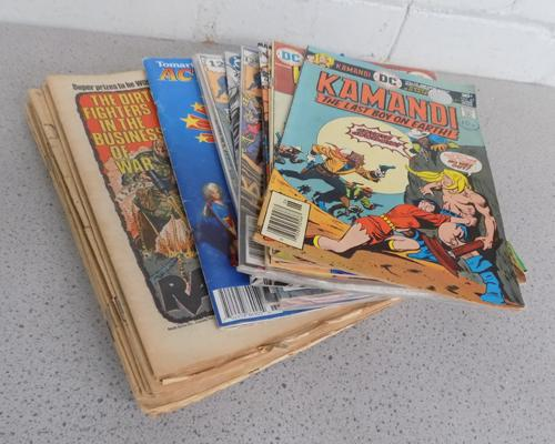 Small selection of DC/Marvel and battle comics