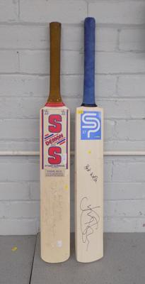 Two signed cricket bats, Bairstow & Lloyd