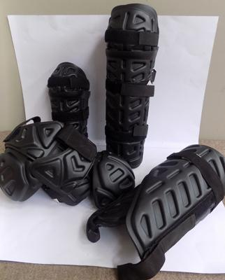 Full set of ex-police riot protection items (legs, arms & shoulders)