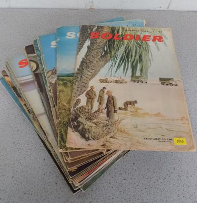 25 issues of Soldier magazines 1960-66