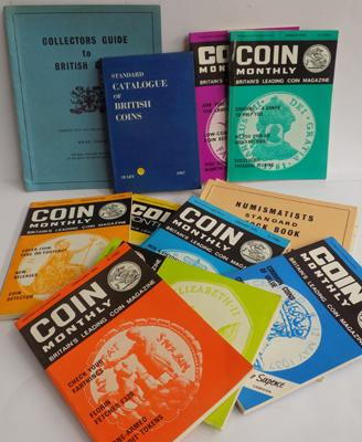 Selection of coin collector's books