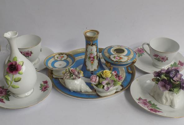 Mixed selection pottery & ceramics, incl. Coalport, Aynsley & other named pottery