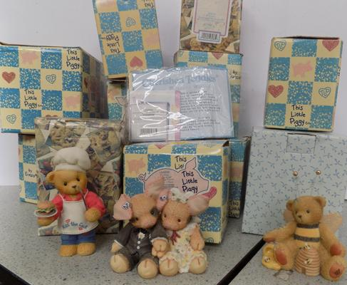 Box of 'This Little Piggy' - Three Little Pigs & Cherished teddies - all unused
