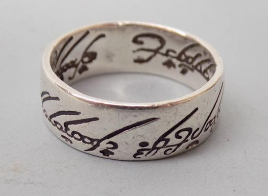 925 silver 'Lord of the Rings' band ring