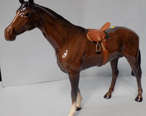 Beswick harnessed racehorse, Connoisseur series, model 1564, 11 1/4""