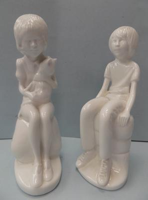 2 Spode figures - Rebecca and Micheal