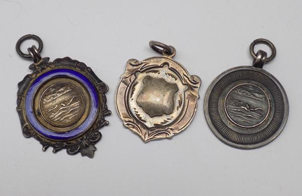 3 silver fob medals dating 1952, '53 and '56/7