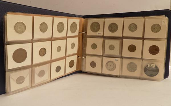 Vintage album full of mixed coins, some silver