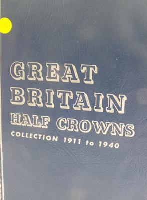 Great Britain Half Crown collection (full) from 1911 to 1940