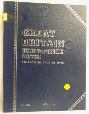 Great Britain Three pence silver coin collection (incomplete)