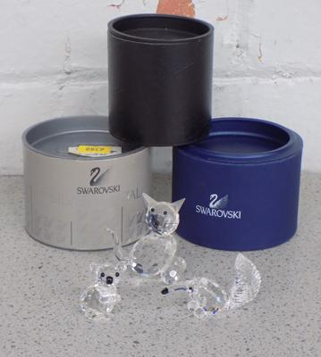 Two boxed Swarovski animals & one other