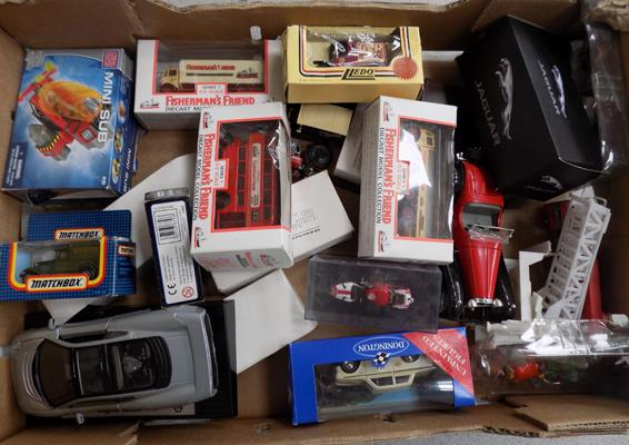 Box of Diecast boxed cars etc.