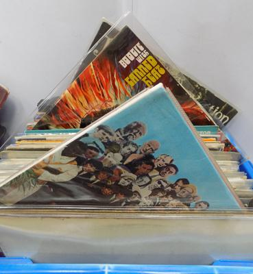 Box of collectable records, incl. Beatles, Neil Young, Fairport, Canned Heat, Family, Lennon
