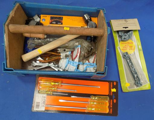 Set of new tools with tool tidy box