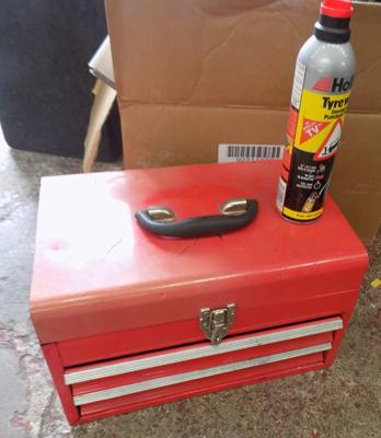 Tool box and tyre fix