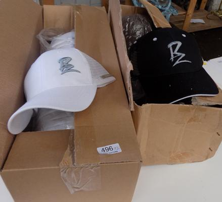 2 boxes of new baseball caps