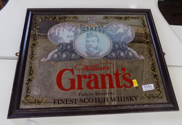 William Grants whisky mirror