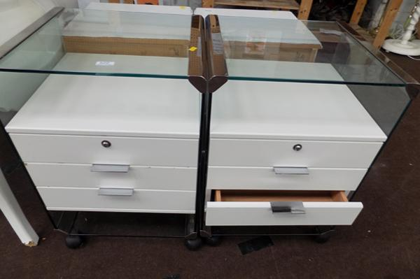 Two retro Barker & Stonehouse bedside cabinets