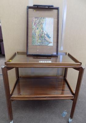 Vintage hostess trolley & serving tray