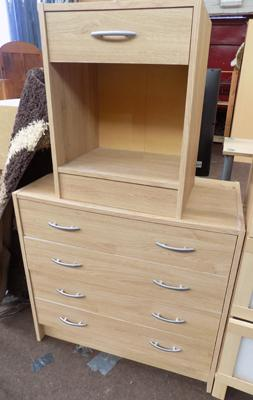Chest of drawers and matching bedside unit