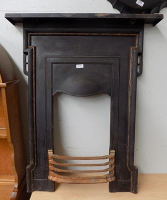 Antique cast iron bedroom fire place with front grill