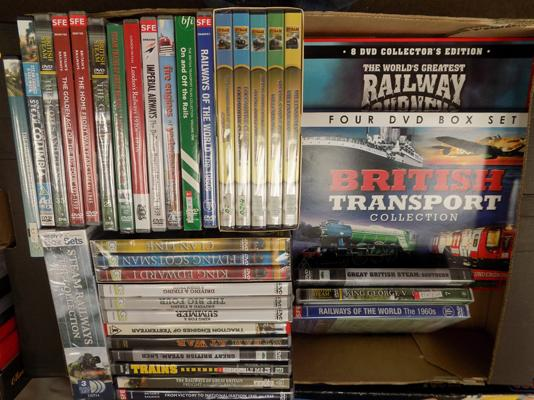 Selection of steam railway related DVD's