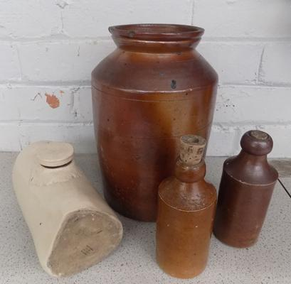 Selection of vintage stoneware