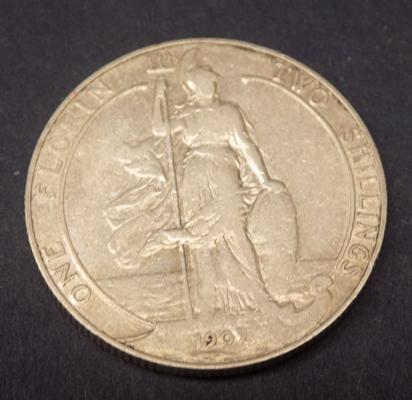 Solid - silver - florin - 1907