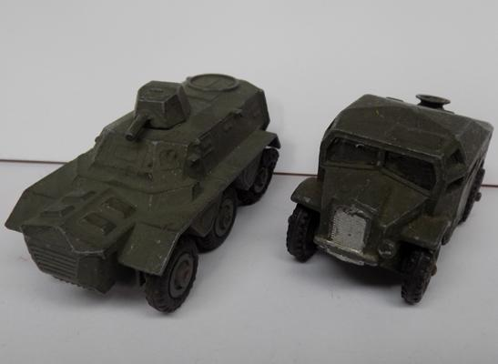 Two vintage military Dinky toys (original paint)
