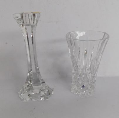 Royal Doulton vase and candle stick