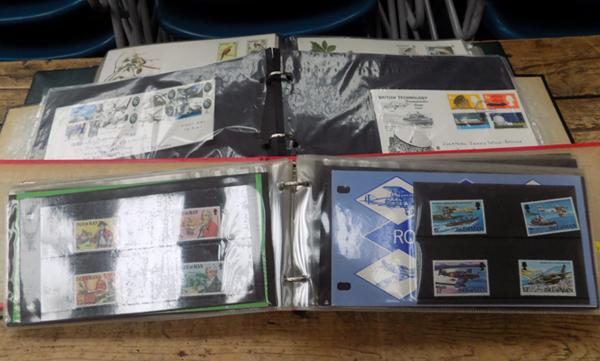 3 albums of first day covers and presentation packs