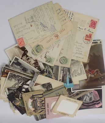 Job lot of vintage postcards, some with stamps