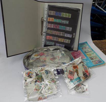 Tray of stamps of Great Britain