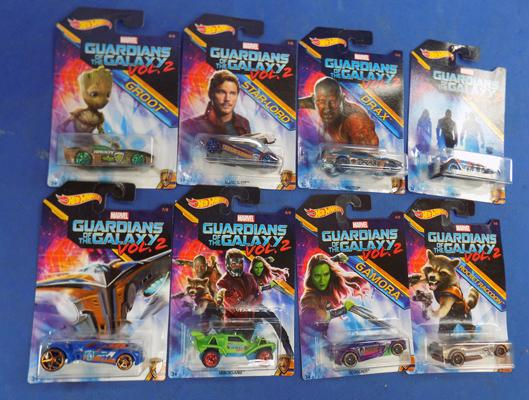 Full set of Guardians of the Galaxy Hotwheels