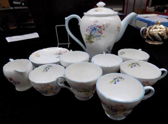 Shelley 'Wild Flowers' tea set - unchecked