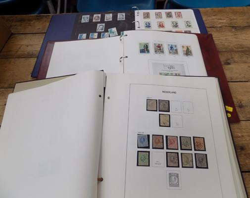 3 albums of world stamps, earlier material etc.