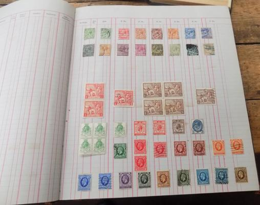 Large ledger containing good range of GB stamps from Queen Victoria