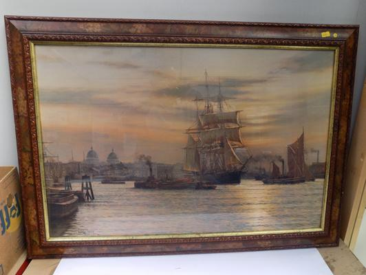 Framed print - Ships in Harbour - by Rodney Charman