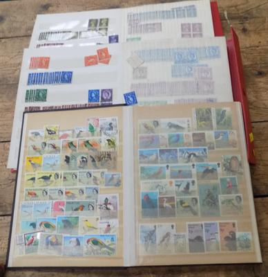 3 small stock books GB and commonwealth stamps etc.