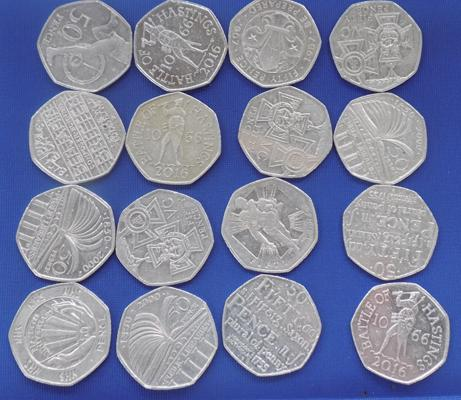 Good selection of 50p coins-collector's coins. Sold in aid of Alzheimer's charity