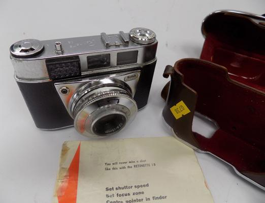 Kodak Retinette 1B 35mm viewfinder camera with Prontor 500LK shutter - with instruction manual