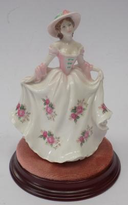 Royal Worcester Sweet Rose limited edition figure-v good condition