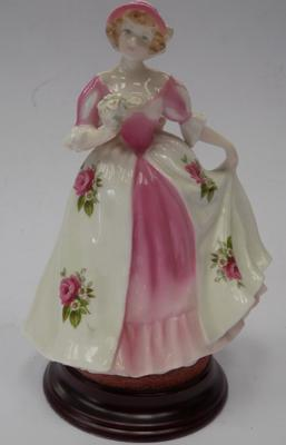 Royal Worcester Sweet Peony limited edition figure v good condition