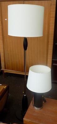 Standard lamp + matching table lamp